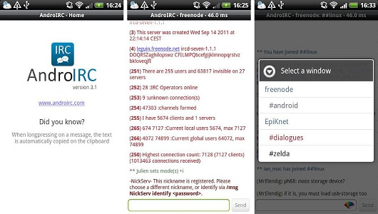 Android İRC Uygulaması
